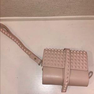 Zara Pink Studded Clutch